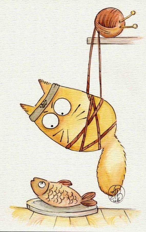Кофе, рисунок кошка смешные