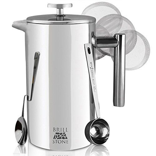 GROSCHE TERRA Recycled French Press -- The worlds MOST ECO FRIENDLY French Press. Made From 75 % recycled materials For a Better Coffee and a Better World! 34 fl. oz / 1000 ml