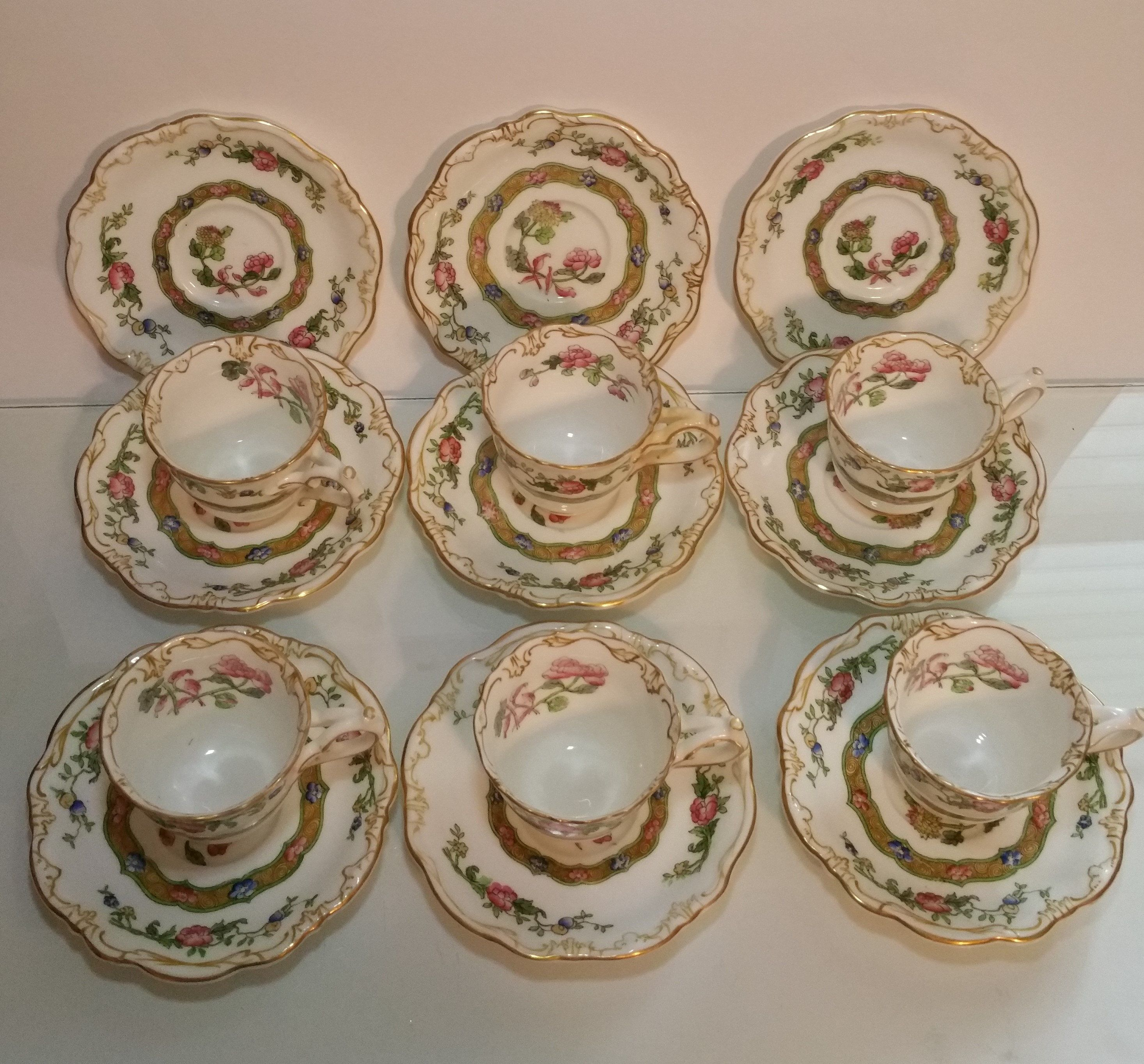 Reduced Antique Crescentware 1890 S George Jones Sons Etsy George Jones Demitasse Cups Cup And Saucer