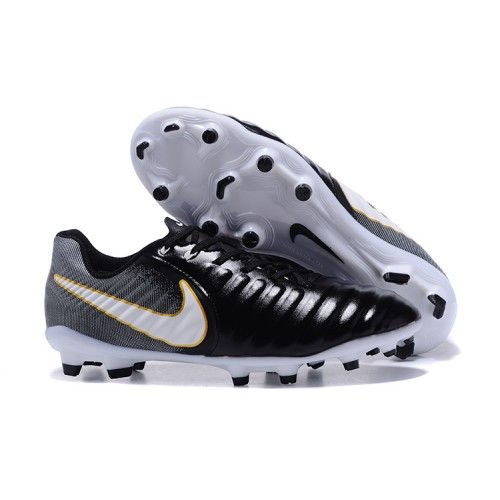 best sneakers 044f4 19b1e 2017 Nike Tiempo Legend VII FG Botas De Futbol Negro Blanco Dorado