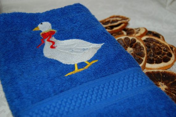 Hand Towel  Goose Design  Perfect for your by TheInevitableStore, $9.00