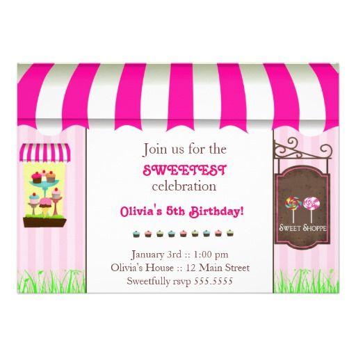Sweet Shoppe #Birthday Party #Invitation