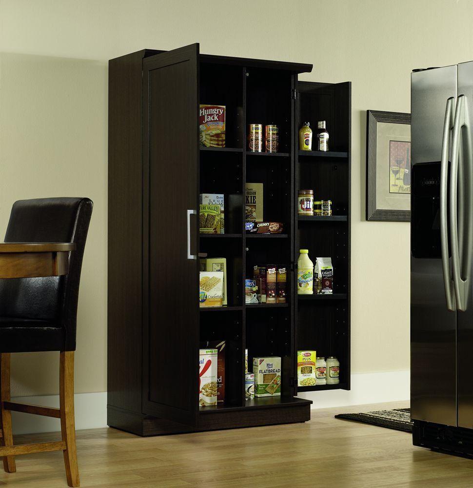 Sauder Double Door Storage Cabinet Large Dakota Oak You Can Get Additional Details Cl Pantry Storage Cabinet Large Storage Cabinets Wood Storage Shelves