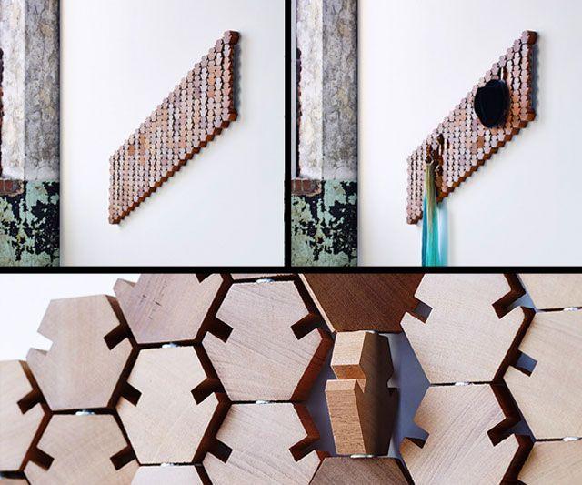 Great Hanging Geometric Coat Rack Good Looking