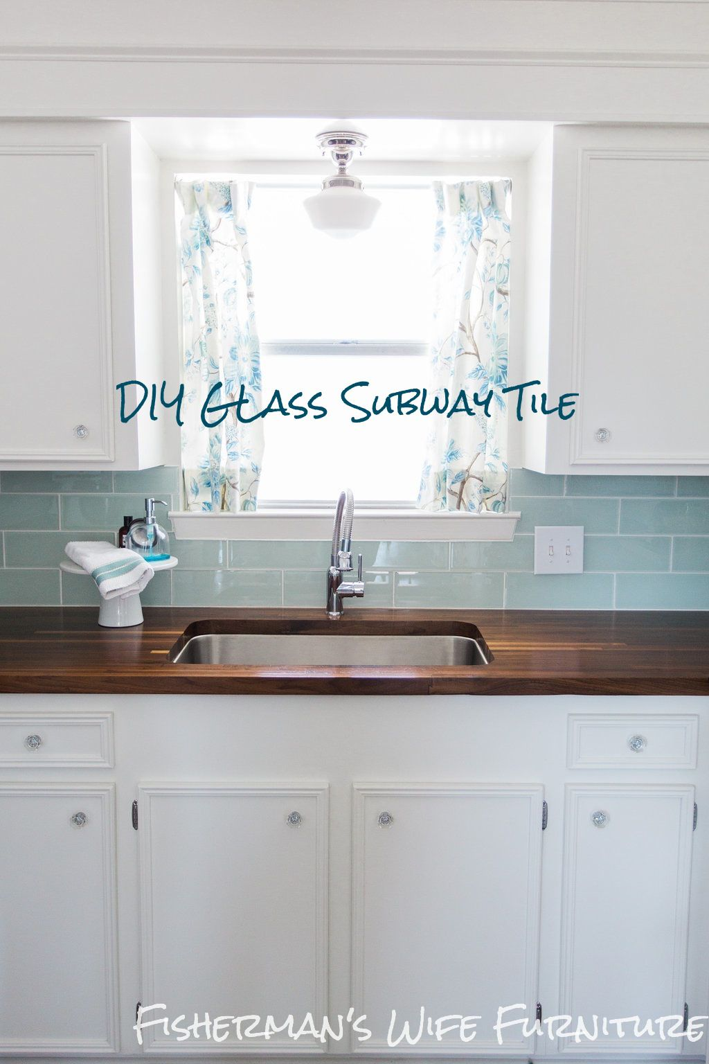DIY Glass Tile Backsplash - How to cut and install glass subway tile ...