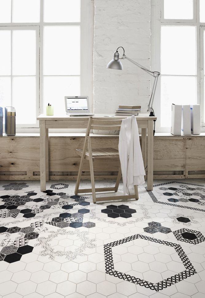 what a fun tile floor! | home | Pinterest | Tile flooring, Office ...