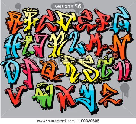 alphabet graffiti style. urban font by wallnarez, via Shutterstock ...