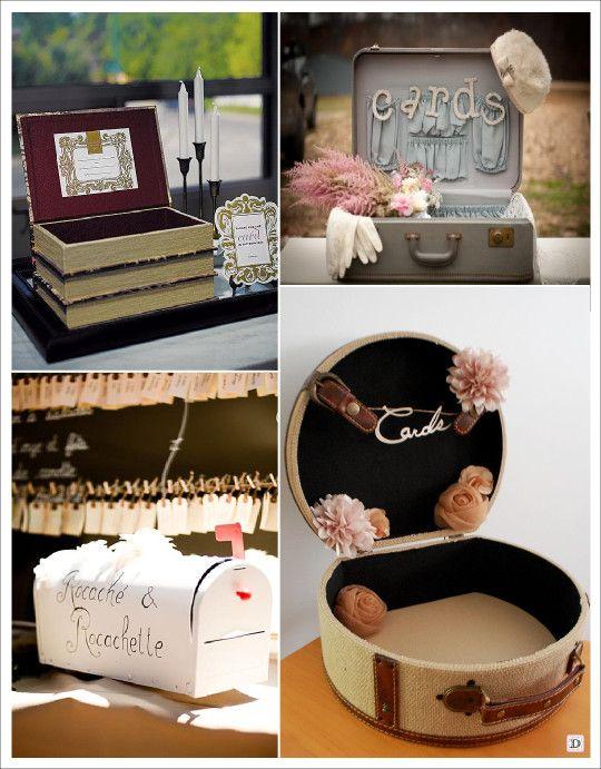 urne mariage retro vintage boite livre valise boite aux lettre am ricaine boite chapeau table. Black Bedroom Furniture Sets. Home Design Ideas