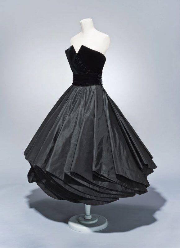 Christian Dior, Cocktail dress with cummerbund and petticoat ...