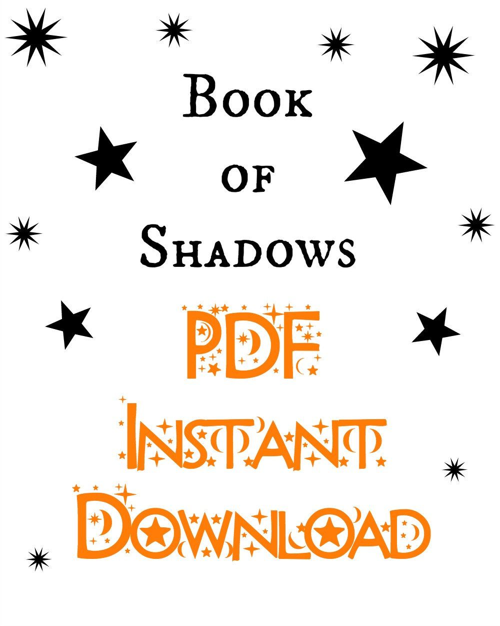 Instant Download Printable Pdfplete Witch's Book Of Shadows Grimoire  With Worksheets By Minervatarot On Etsy