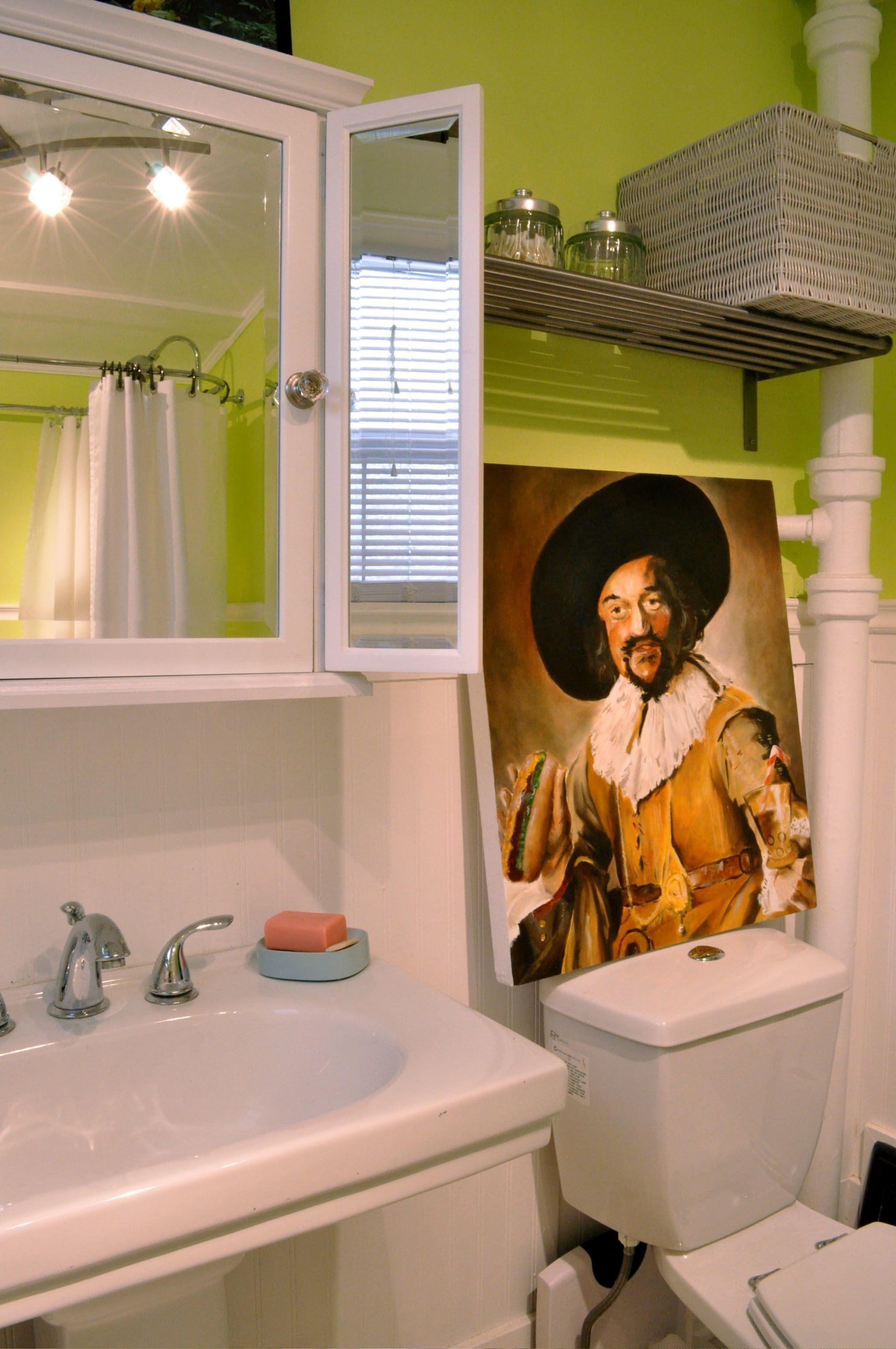 Bright Bathroom, Cool Art