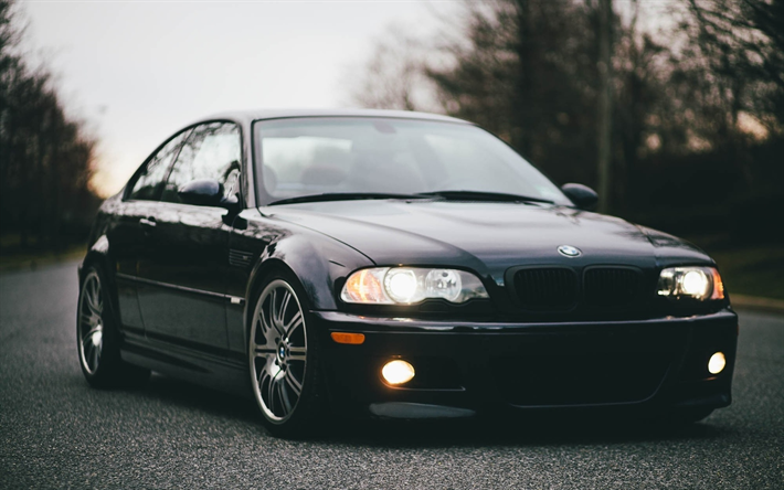 Download Wallpapers E46 Bmw 3 Series Coupe Headlights Tuning