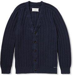 Maison Martin MargielaSlash-Detailed Cotton Cardigan
