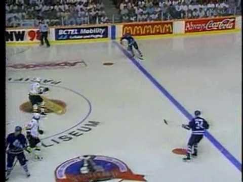 Greg Adams sends Nucks to SCF scoring in double OT vs Leafs in 94. Sweet.