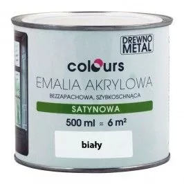 Emalia Akrylowa Colours Biala 0 5 L Uniwersalne Colours Kitchen Appliances Diy Projects