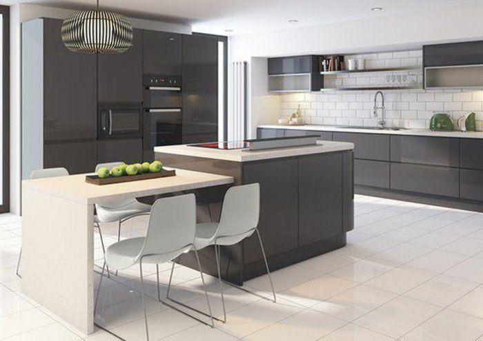 cuisine gris anthracite meuble cuisine