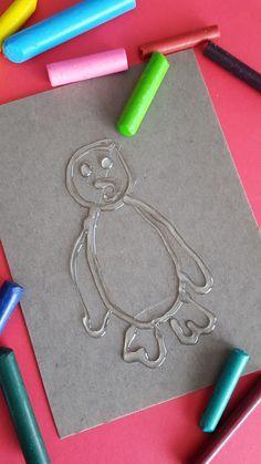 DIY crayon rubbings