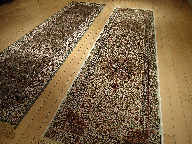 Silk Cream Rug Persian Tabriz Rugs Long 2x12 Hallway Runner Ivory Runners  Rugs Floor Long Carpet