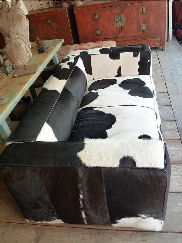 Black And White Cow Hide Couch White Sofa Design Log Home Interiors Dream Furniture