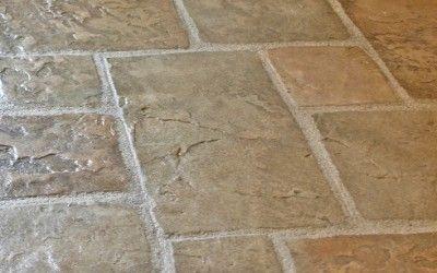 interior decorative concrete flooring using flex c ment overlay