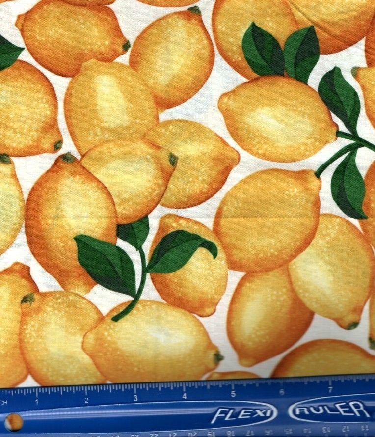 Fabric Realistic Lemons Fruit Yellow Citrus Print 100 Cotton Quilt Fabric 1 Yd Ebay Cotton Crafts Craft Fabrics Fabric