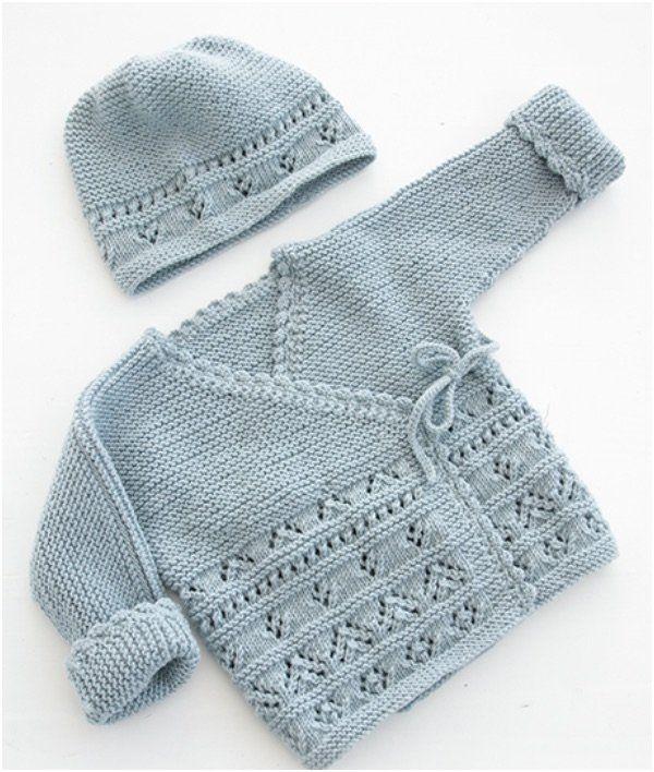 Baby Cute Cardigans Free Knit Patterns #crochetbabycardigan