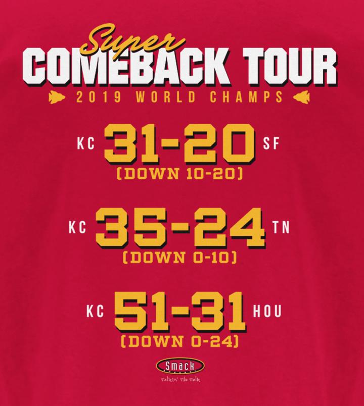 Kansas City Championship Shirt Comeback Tour Liv Kansas City T Shirt In 2020 Kansas City Kansas City Chiefs Logo Kansas City Nfl