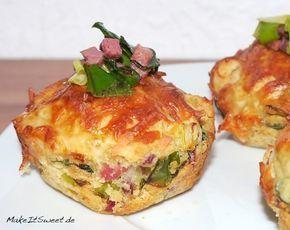 Photo of Rezept für herzhafte Lauch-Speck-Muffins – MakeItSweet.de