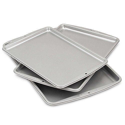 Cookie Sheets Aluminum Dishwasher Safe By Wilton 3pieceset 13 14 L X 9 14 W 15 14 L X 10 14 W And 17 14 Best Cookie Sheets Cookie Sheet Baking Cookie Sheets