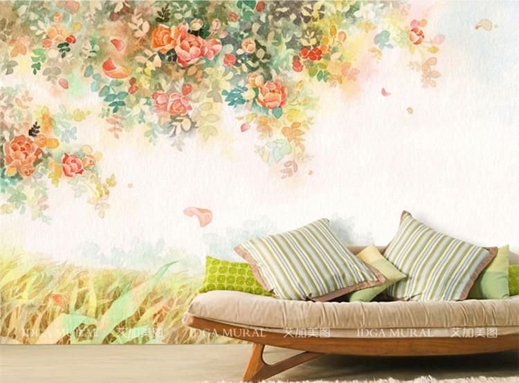 Best Elegant Photo Wallpaper Rose Flower Wall Murals 3D Custom Wallpaper Kids Bedroom Living Room 640 x 480