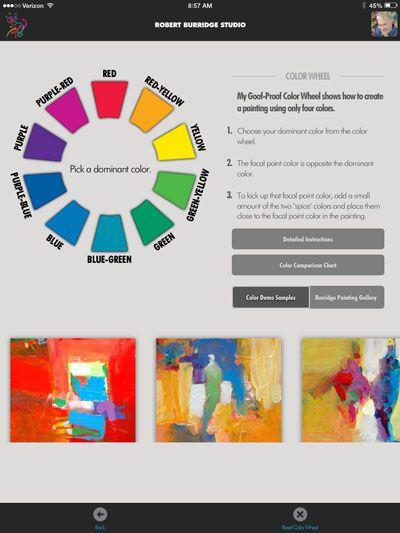 Burridge Goof Proof Color Wheel App Watercolour Painting