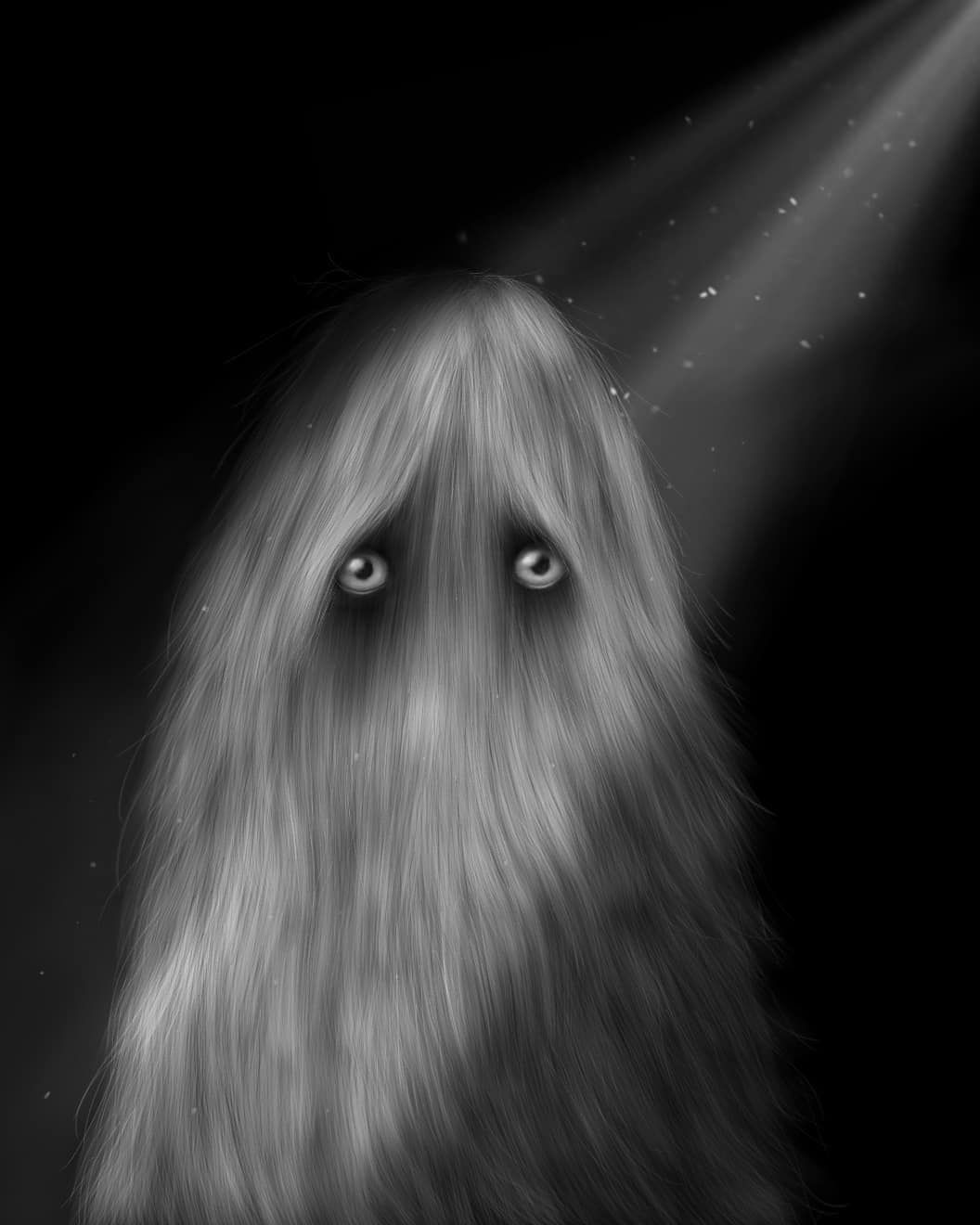Peppa Potter On Instagram A Hairy Ghost For Mabsdrawlloweenclub
