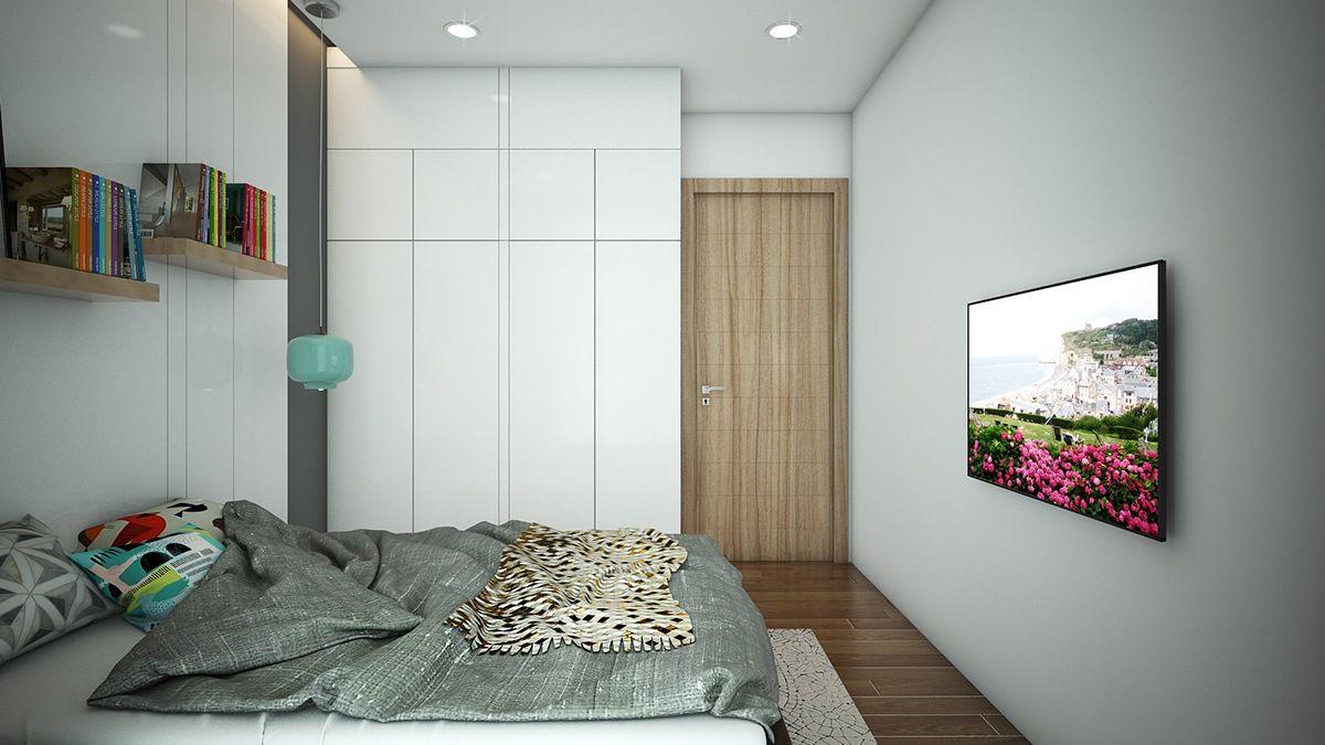 Three cozy u colorful modern apartments bedroom designs