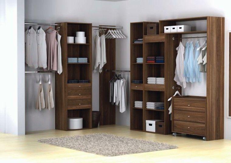 muebles vestidores de madera laminada Interiores Pinterest