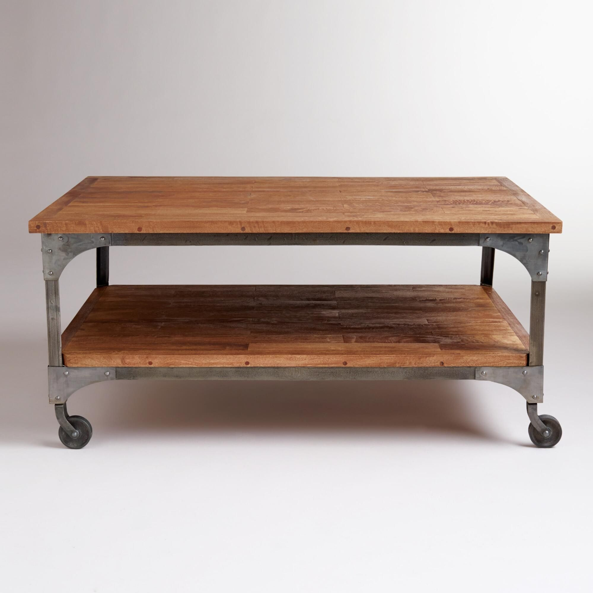 Aiden Coffee Table Coffee Table With Wheels Coffee Table With Casters Round Coffee Table [ 2000 x 2000 Pixel ]