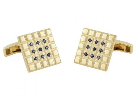 Charles Gold and Co. Sapphire Cufflinks in 14K