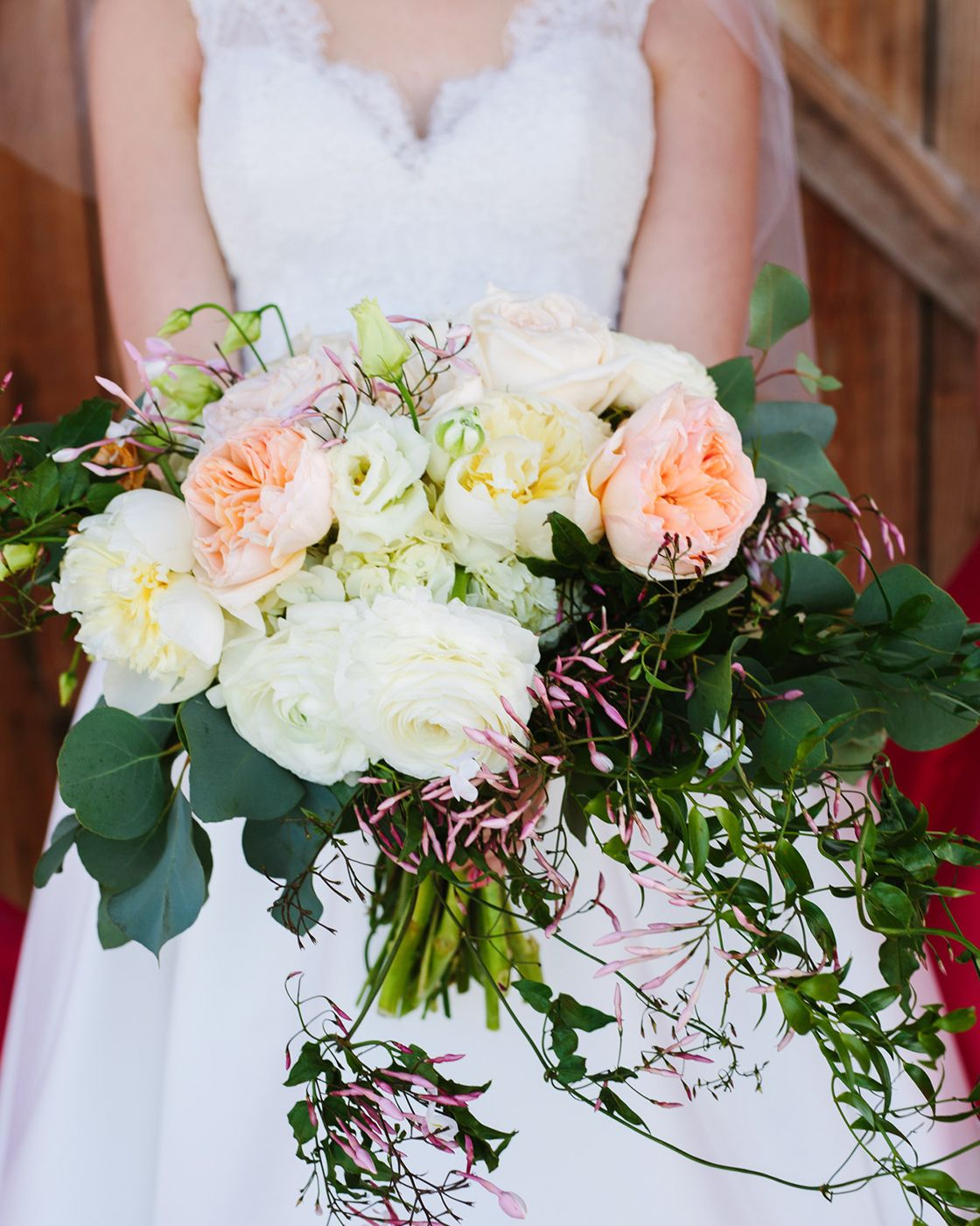 Peaches And Creams Wedding Bouquet. Click For More