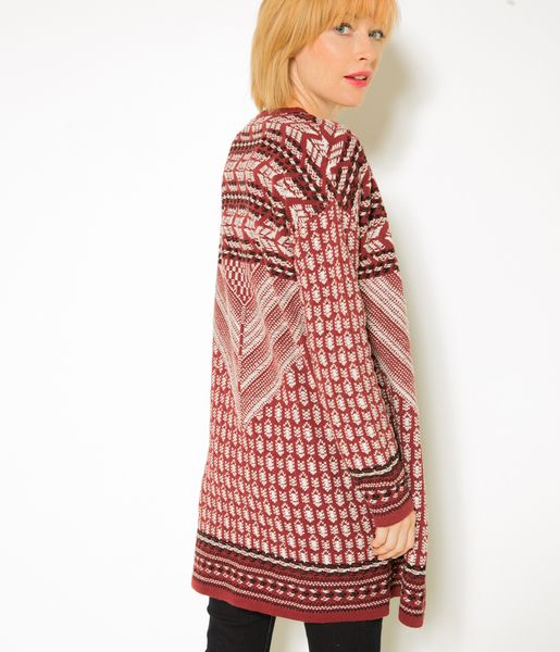 a561e3432c480 Long gilet femme esprit folk   Style   Pinterest   Mode tendance ...