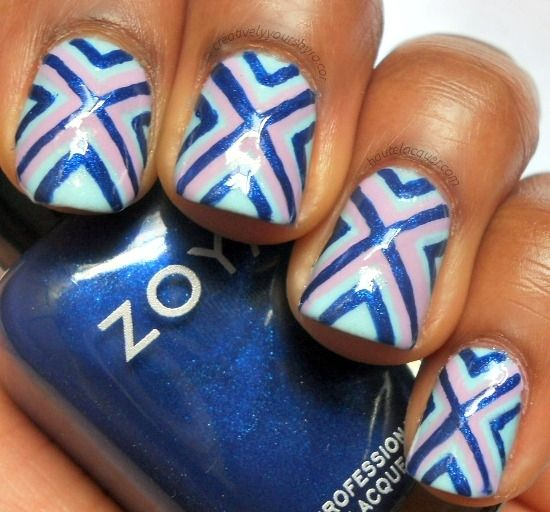 Love the nails? Learn how to get the look: http://www.creativelyyoursbyro.com/2012/08/x-marks-spot-nail-art-tutorial.html