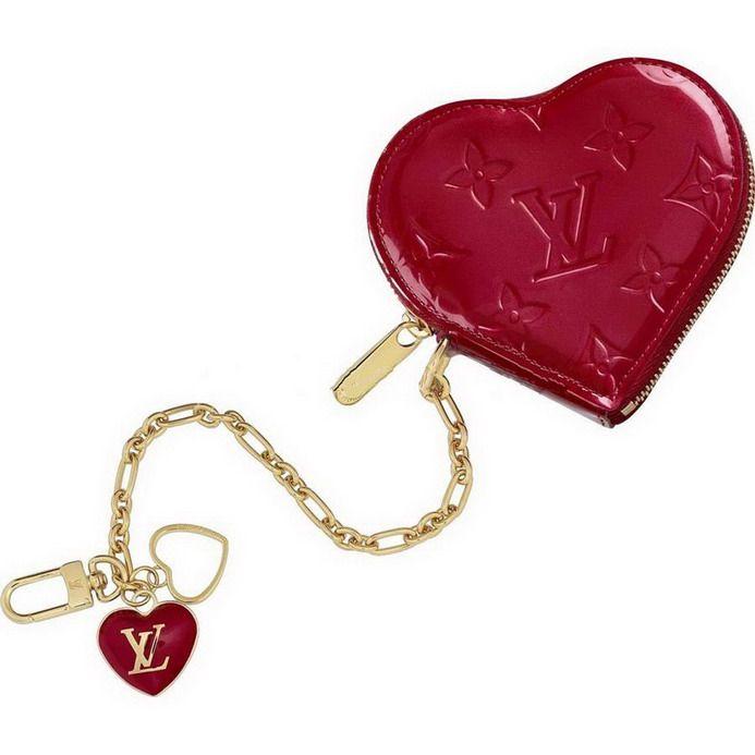 Louis Vuitton Wallet M93662 Heart Coin Purse Red