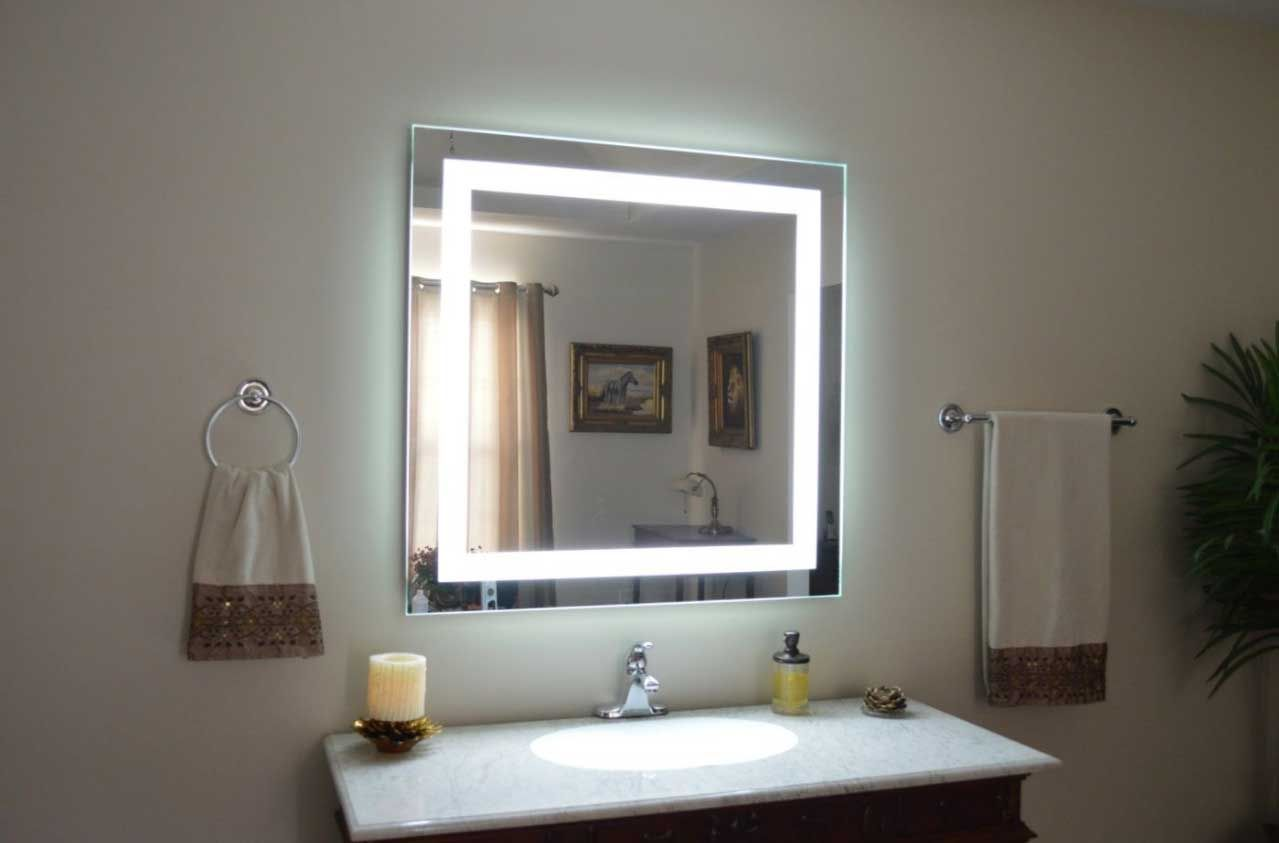 Big Vanity Mirror With Lights Cool Big Large Bathroom Mirrors  Идеи Зеркал  Pinterest  Large Decorating Design