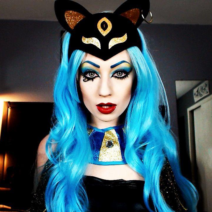 Bastet, the Egyptian Cat Goddess. Halloween makeup ideas, Egyptian ...