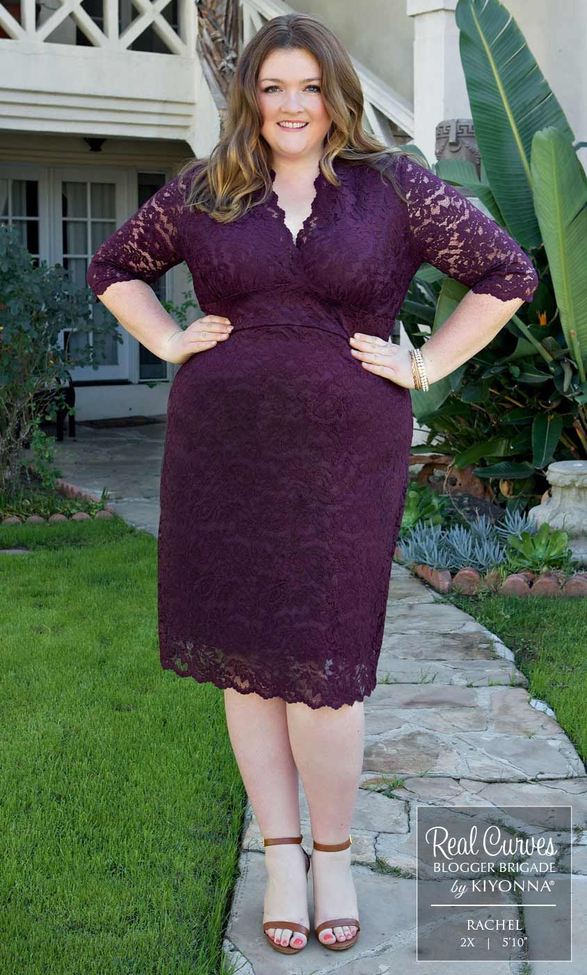 Real Curves For Scalloped Boudoir Lace Dress Plus Size Wedding Guest Dresses Plus Size Party Dresses Fashion [ 1400 x 844 Pixel ]