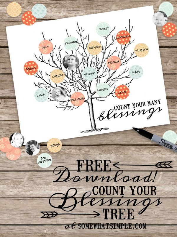 FREE Count Your Blessings Tree
