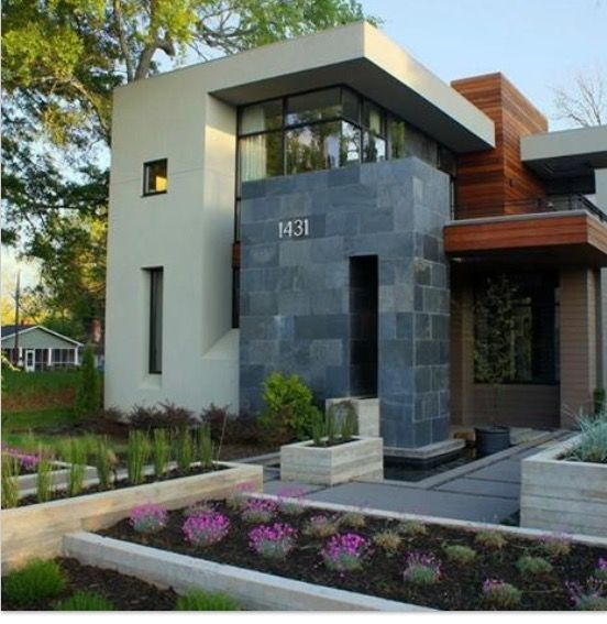 18 Awe Inspiring Modern Home Exterior Designs That Look Casual: Pin By Valentina Mencevski On Gardens/outdoor