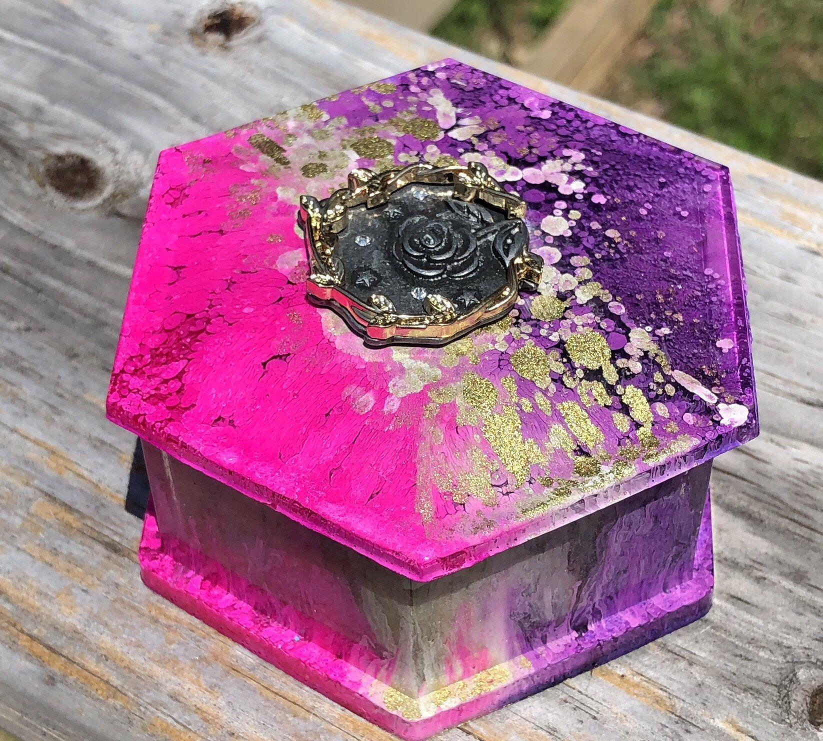 Rose jewelry/trinket box Trinket boxes, Rose jewelry
