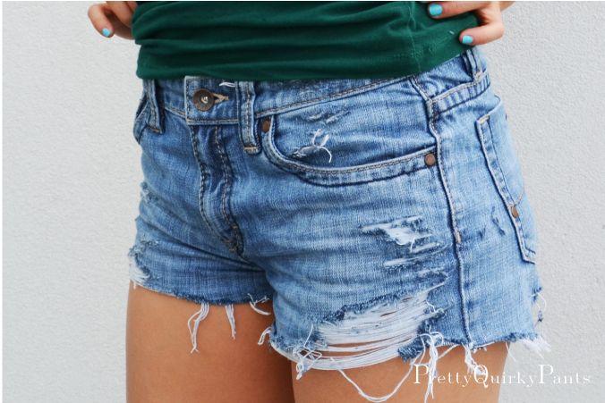 Diy Ripped Jean Shorts Ye Jean