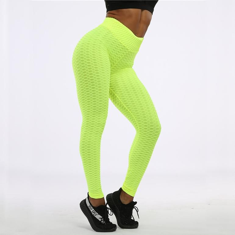 Running High Waist Fitness Leggings Women Workout Push Up Trousers Solid Pants