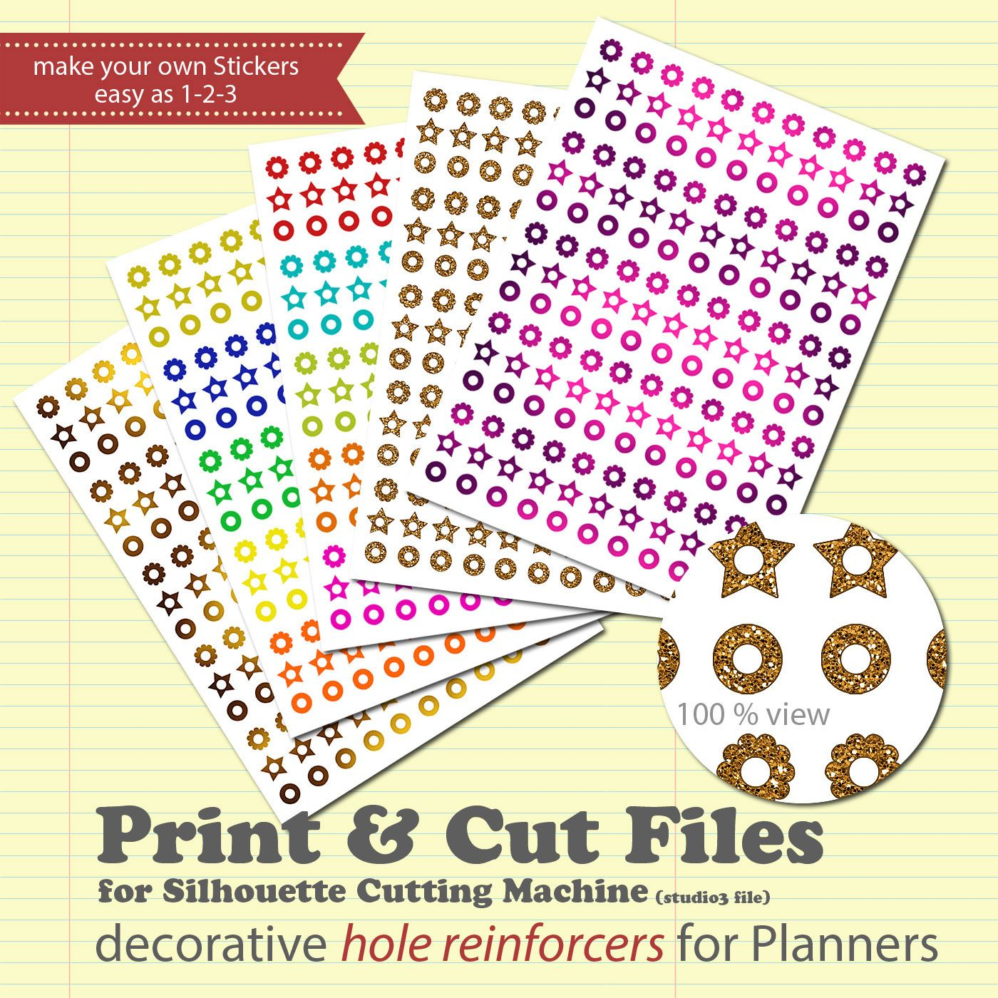 Free Download: DIY Planner Sticker Print & Cut File for Silhouette Cameo + Tutorial | Creative Creations by Andrea Gomoll | Bloglovin'
