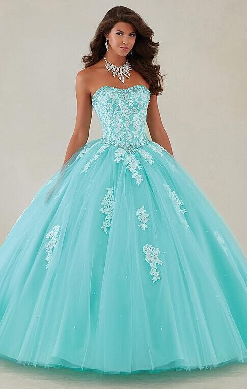cadef42af8b Charming ball gown prom dress! For sweet 15 party!